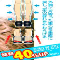 歩きながら改善 矯正 美脚 O脚対策 中敷 インソール 24-28cm+