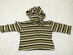HONPO BEST☆サイズ95☆パーカーロングTシャツ☆ボーダー