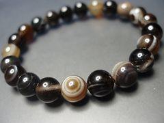 『天神の眼』天然石2A天眼石約8ミリ数珠ブレス