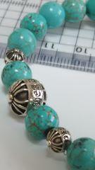 ☆クロムハーツ  正規品☆  クロスボール  数珠 8mm  ターコイズ  ブレスレット