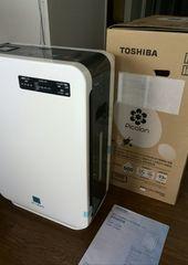 TOSHIBA 加湿機能付き 空気清浄機 CAF - J22K パールホワイト