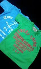 †新品††超カッコイイバクプリありTシャツ2枚組†80
