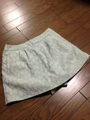 インデックス ミントカラー ひょう柄スカートパンツ