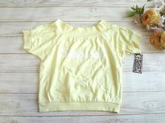 新品 M2 ロゴ スエット カットソー Tシャツ 黄 M