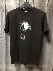 ウエアハウス ワーク バックプリント半袖Tシャツ Sサイズ 黒×白 チャコールグレー 日本製