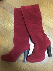 マーキュリーデュオ 赤 ブーツ サイズ36 美品 スエード