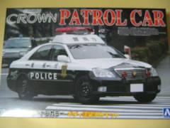 アオシマ 塗装済みパトロールカー11 18クラウン パトロールカー 警視庁 スチールホイールVer.