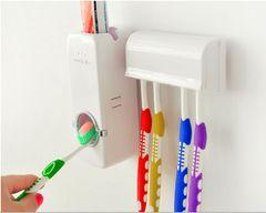 【送料無料】 歯磨き粉自動絞り機 歯ブラシホルダー付 ホワイト