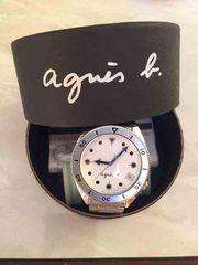 アニエスベー 男性用 腕時計 ホワイト