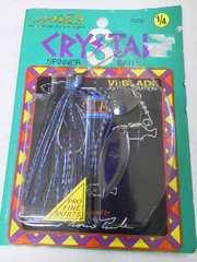 ノリーズクリスタルSTIFA新品1/4oz黒系ブルーメタカラーブレードはガンメタ