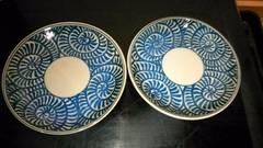蛸唐草紋様小皿2枚窯印