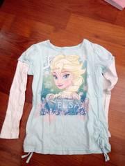 海外アナと雪の女王エルサロングTシャツ