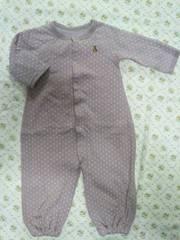 ★美品★ baby Gap クマさん刺繍2way カバーオール 60 男女OK