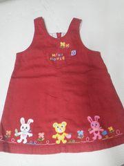 ミキハウス赤ワンピースうさこ刺繍90サイズ