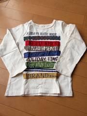 キムラタン.ラキエーベ.長袖Tシャツ.白.新品.美品.110