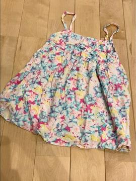 モバオクで買える「カラフル派手可愛い花柄楽ちん涼しい楽ちんキャミワンピ95センチ」の画像です。価格は200円になります。