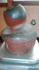 赤備前胡麻灰釉瓢箪壁掛け壺…窯印