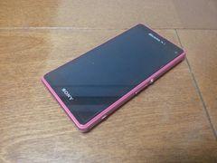 即落/即発!!美中古品 SO-02F Xperia Z1f ピンク