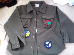 カステルバジャック サイズ110 カーキのフリースジャケット