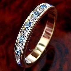 新品21号フルエタニティゴールドリング 指輪アクアマリンカラースワロ大きいサイズaqua