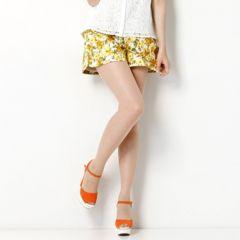 アプワイザーリッシェ ◆ 一度着美品 フラワープリントキュロットスカート♪