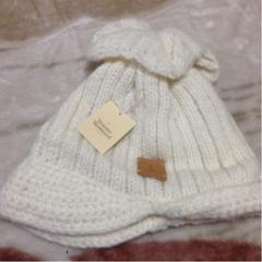 Vivienne◆女性◆ニット帽子◆ツバ付き◆新品◆アルパカ