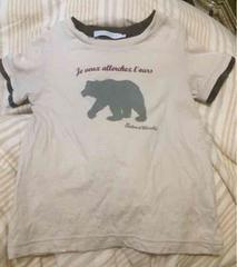110ベベTartine et Chocolat熊半袖Tシャツ