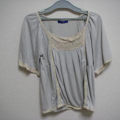 アフターオール L~LL 大きいサイズ デザインカットソ− 半袖