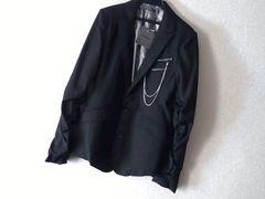 特売★ツイストギャザータイトテーラードジャケット黒