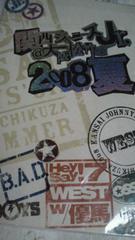 松竹座関西ジャニーズJr.2008年夏コンサートパンフレット