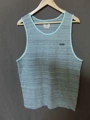 USA購入バンズ【VANS】シンプル胸ロゴ刺繍 タンクトップUS M