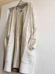 未使用・ざっくり編み…ロングカーデ(Mサイズ)