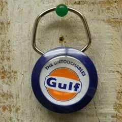 GULF キーホルダー アメリカンキーホルダー オイル会社