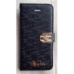 【送料無料】新品★iPhone6/6s レザーケース《ブラック》手帳型