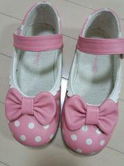 シャーリーテンプル20�pおりぼん水玉ピンクお靴(。・∀・。)ノ