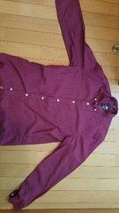 エンジ色の長袖シャツ【Lサイズ】