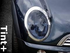Tint+糊残りゼロ BMWミニ R50/R52/R53ヘッドライト スモークフィルム