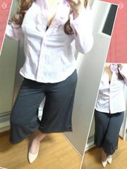 シワになりにくい胸元フリルシャツ(*/ω\*)