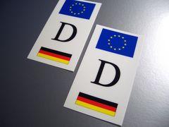 u2■ドイツDステッカー2枚set 国旗 シール即買