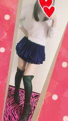 愛用ピンクニット&フレアミニスカート