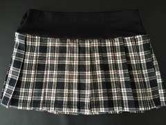 黒チェックミニプリーツスカート★Mサイズ