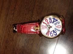 正規GAGA赤、ピンクベルト時計