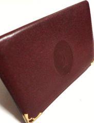 カルティエ/Cartier 革製カード入れ兼パスケース