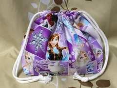 ハンドメイド/アナと雪の女王(紫)/お弁当袋