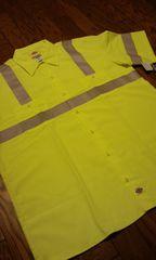 Dickiesディッキーズ レスキューワークシャツ イエローグレー 4XLXXXXL 新品