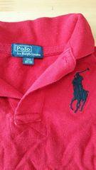 ポロ,ラルフローレン,長袖ポロシャツ,赤色.サイズ記載80
