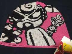 1円スタ.正規品.ヒスミニ.ニット帽子.ピンク.Lサイズ.新品