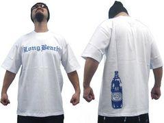 23P)SaleG-WEAR LongBeach刺繍TシャツXLホワイト白ローライダーウエッサイチカーノB系
