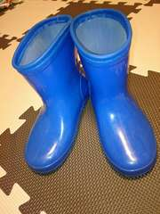 長靴 18cm 青