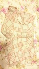 ◆LIZ LISA◆ガーリーチェック柄☆でか丸ボタンショーパン☆